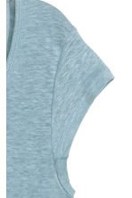Linen jersey top - Light blue-grey - Ladies | H&M CN 2