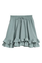 Short cotton skirt - Dusky green - Ladies | H&M 2