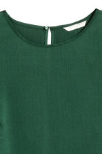 Short-sleeved blouse - Dark green - Ladies | H&M 3