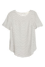 短袖女衫 - Natural white/Striped - Ladies | H&M 2