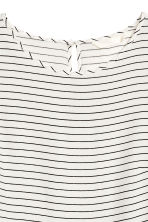 Short-sleeved blouse - Natural white/Striped - Ladies | H&M 3