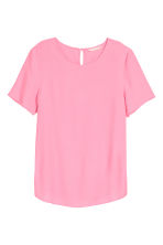Short-sleeved blouse - Pink - Ladies | H&M CA 2