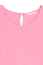 Short-sleeved blouse - Pink - Ladies | H&M 3