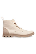 Canvas boots - Light beige - Men | H&M 1