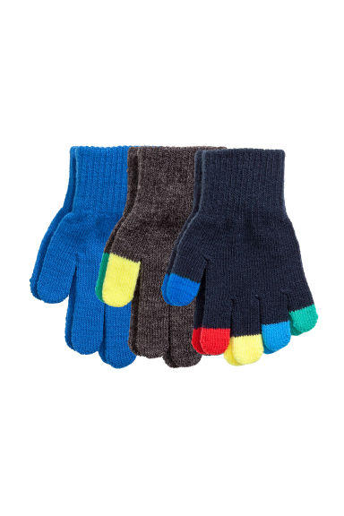 3-pack gloves - Blue - Kids | H&M 1