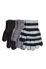 3-pack gloves - Grey/Striped -  | H&M CN 1