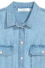 Oversized denim shirt - Light blue - Ladies | H&M CN 3