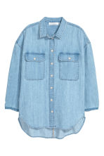 Oversized denim shirt - Light blue - Ladies | H&M CN 2