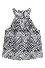 Sleeveless top - Black/Patterned - Ladies | H&M 2