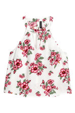 無袖上衣 - White/Floral - Ladies | H&M 2