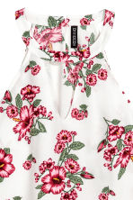 無袖上衣 - White/Floral - Ladies | H&M 3