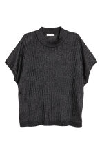 Glittery rib-knit top - Black - Ladies | H&M 2