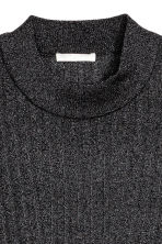 Glittery rib-knit top - Black - Ladies | H&M 3