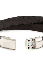 Double-strap leather bracelet - Black - Men | H&M 3