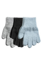 3-pack gloves - Light blue/glittery -  | H&M CA 1
