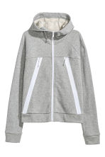 Outdoor jacket with a hood - Light grey marl - Ladies | H&M CN 2