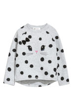 Fine-knit Sweater - Light gray/dotted - Kids | H&M CA 2