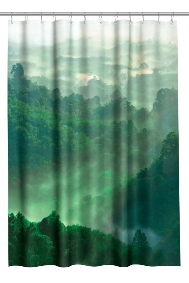 Photo print shower curtain - Green - Home All | H&M CN 1
