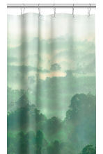 Photo print shower curtain - Green - Home All | H&M CN 2