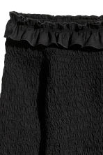 Smocked Off-the-shoulder Top - Black - Ladies | H&M CA 3