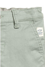 Stretch cotton chinos - Light khaki green - Kids | H&M 3