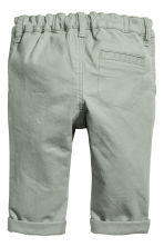 Stretch cotton chinos - Light khaki green - Kids | H&M 2