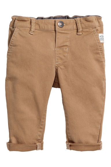 Stretch cotton chinos - Beige -  | H&M 1