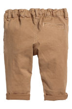 Stretch cotton chinos - Beige -  | H&M 2