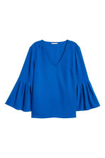 Trumpet-sleeved blouse - Cornflower blue - Ladies | H&M 2