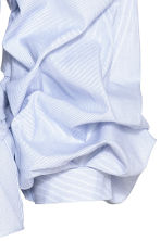 Wrapover cotton blouse - White/Blue striped - Ladies | H&M 3