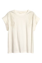 Embroidered top - Natural white - Ladies | H&M CN 2