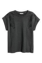 Embroidered Top - Black - Ladies | H&M CA 2