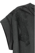 Embroidered Top - Black - Ladies | H&M CA 3