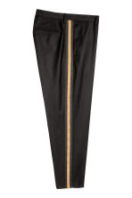 Suit trousers with stripes - Black/Camel - Men | H&M 3