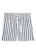 Cotton shorts - White/Dark blue/Striped -  | H&M 2