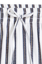 Cotton shorts - White/Dark blue/Striped -  | H&M 3