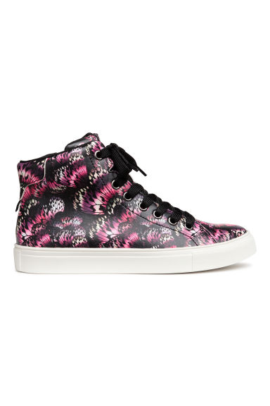 Hi-top trainers - Black/Butterfly - Kids | H&M 1