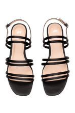 Satin sandals - Black - Ladies | H&M 2