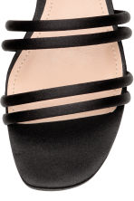 Satin sandals - Black - Ladies | H&M 3