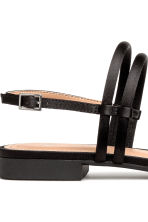 Satin sandals - Black - Ladies | H&M 4