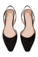 Square-toed flats - Black - Ladies | H&M CN 2