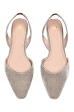 Square-toed flats - Light grey - Ladies | H&M 2