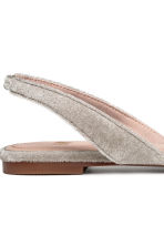 Square-toed flats - Light grey - Ladies | H&M 4