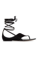 Suede sandals - Black - Ladies | H&M 2