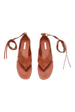 Suede sandals - Rust - Ladies | H&M CN 3
