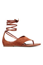 Suede sandals - Rust - Ladies | H&M 2