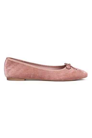 Velvet ballet pumps - Vintage pink - Ladies | H&M