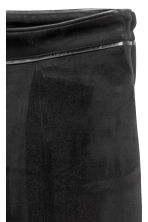 Imitation suede trousers - Black - Ladies | H&M 3