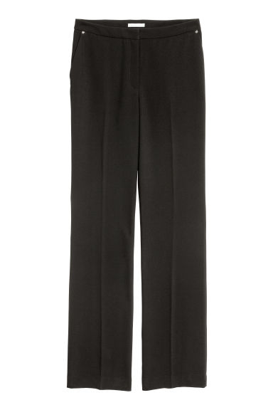 Flared suit trousers - Black - Ladies | H&M 1