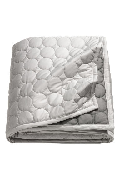 Satin bedspread - Light grey - Home All | H&M CN 1